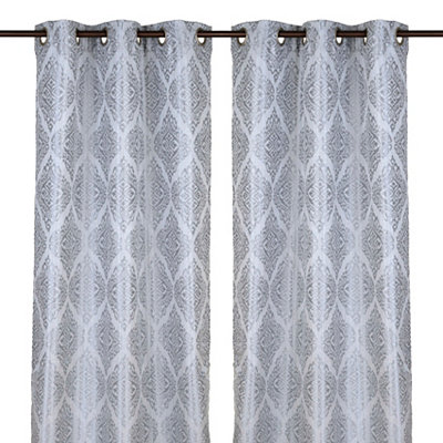 Felicity Blue Curtain Panel Set, 84 in.