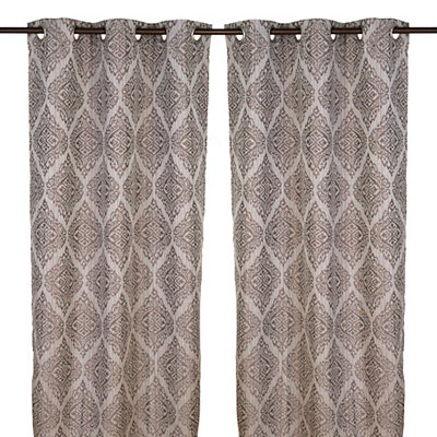 Felicity Gray Curtain Panel Set, 84 in.