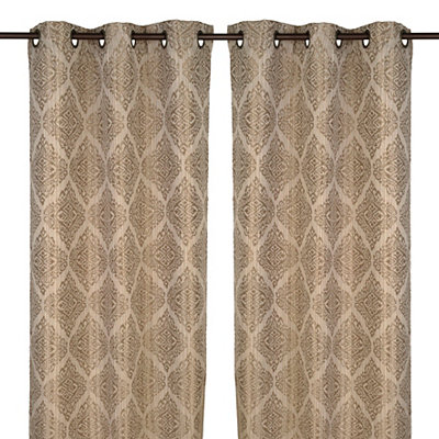 Felicity Natural Curtain Panel Set, 84 in.