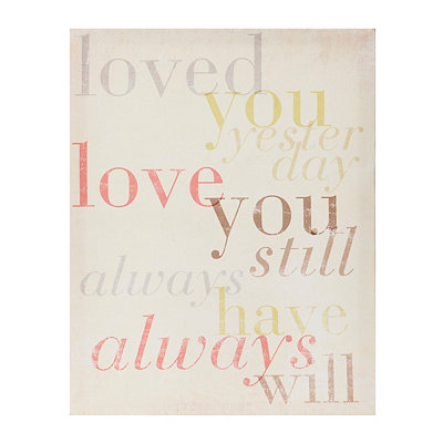 Love You Still Canvas Art Print