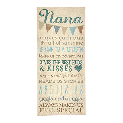 Nana is One in a Million Canvas Plaque