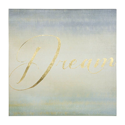 Dream Gold Foil Canvas Print