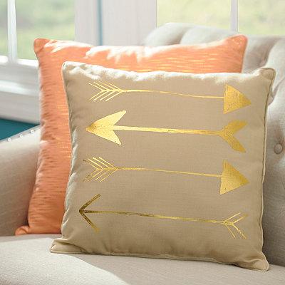 Metallic Gold Arrow Pillow