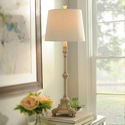Ivory Pearl Buffet Lamp