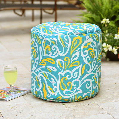 Turquoise Albany Indoor Outdoor Pouf