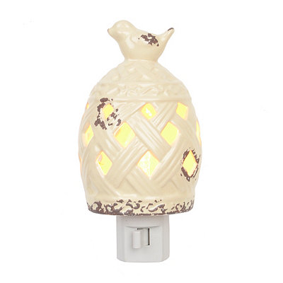 Ivory Birdcage Ceramic Night Light