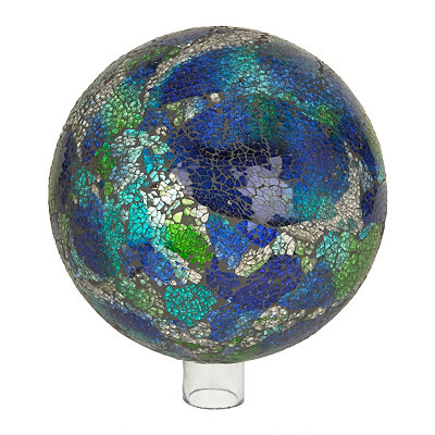 Blue and Green Mosiac Gazing Ball