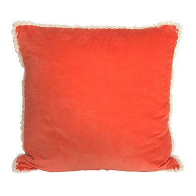 Coral Velvet Cotton Pillow