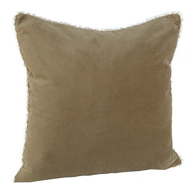 Tan Velvet Cotton Pillow