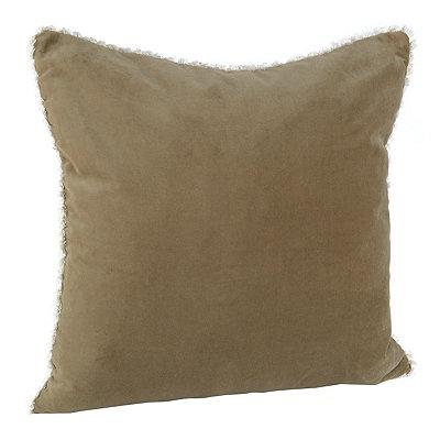 Tan Velvet Cotton Pillow