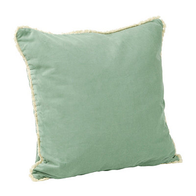 Aqua Velvet Cotton Pillow