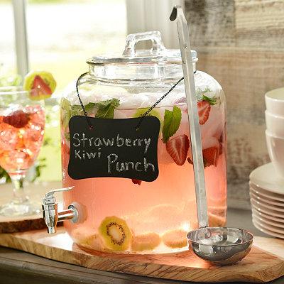 Round Beverage Dispenser with Ladle
