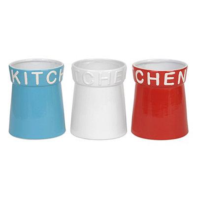 Stoneware Kitchen Utensil Holders