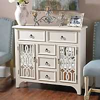 Cream Mirrored Gatehill Cabinet