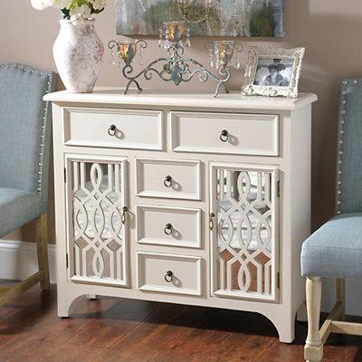 Cream Mirrored Gatehill Cabinet