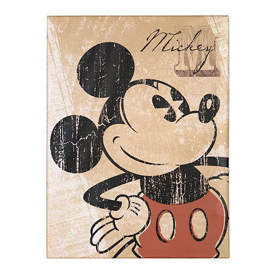Vintage Mickey Mouse Canvas Art Print