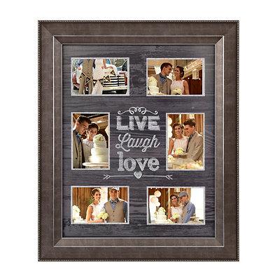 Distressed Black Live, Laugh, Love Collage Frame