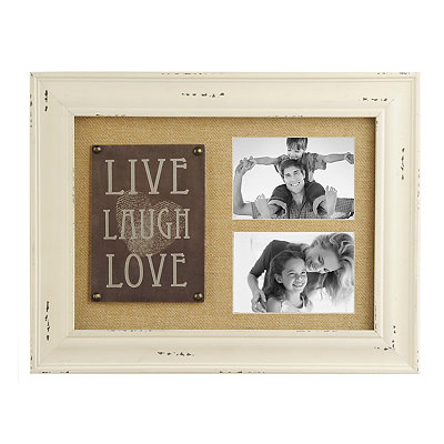 Burlap Live, Laugh, Love Collage Frame