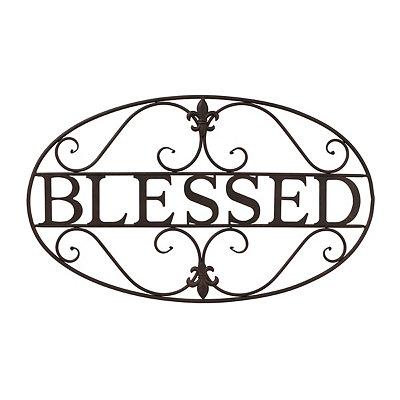 Fleur-de-Lis Blessed Metal Plaque