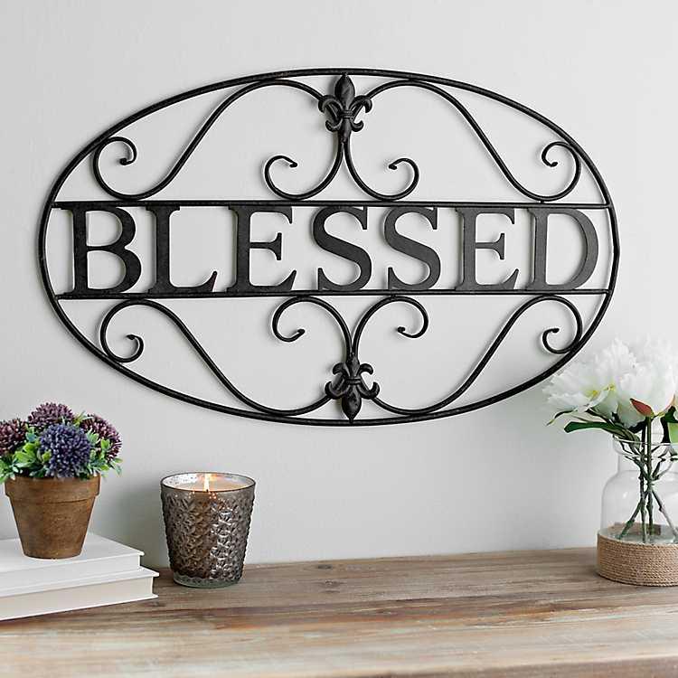Fleur-de-Lis Blessed Metal Plaque | Kirklands