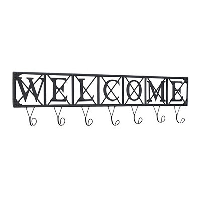 Metal Welcome Wall Hook