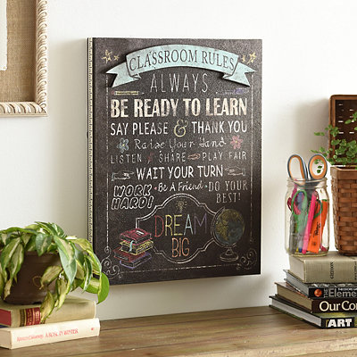 Classroom Rules Wooden Plaque