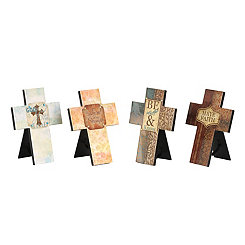 Jeweled Inspirational Cross Plaques