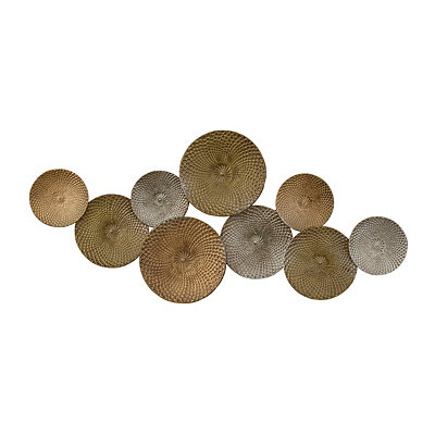 Mixed Metallic Circles Metal Plaque