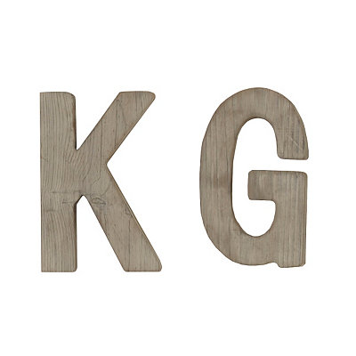 Gray Monogram Wooden Plaque