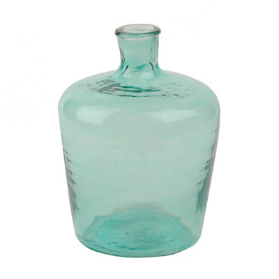 Aqua Recycled Glass Vase