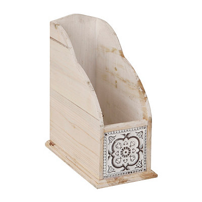 Natural Medallion Paper Organizer