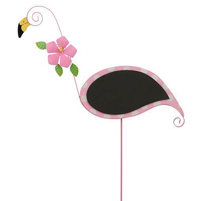 Chalkboard Flamingo Stake