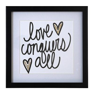Love Conquers All Framed Art Print