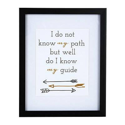 I Do Not Know My Path Framed Art Print