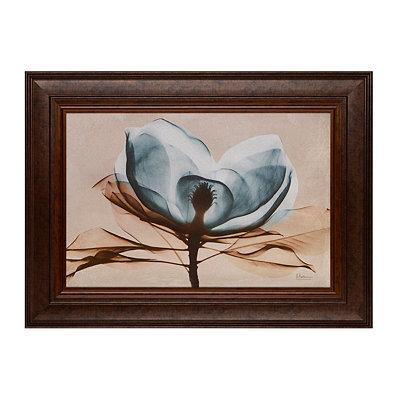 Turquoise Magnolia Framed Art Print