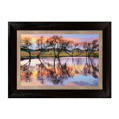 Lake Reflections Framed Art Print