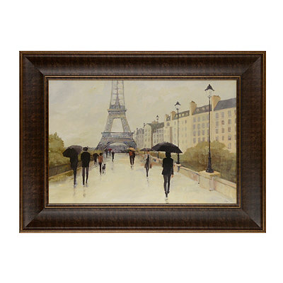 Paris in the Rain Framed Art Print