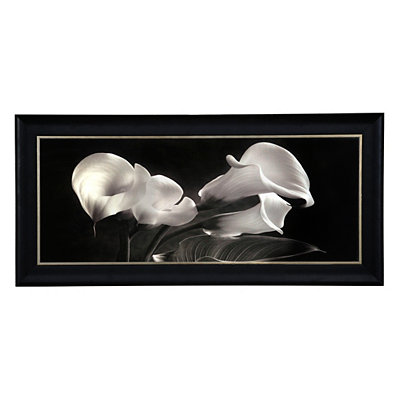 Black & White Calla Lilies Framed Art Print