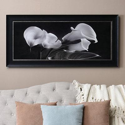 Black & White Calla Lilies Framed Art Print
