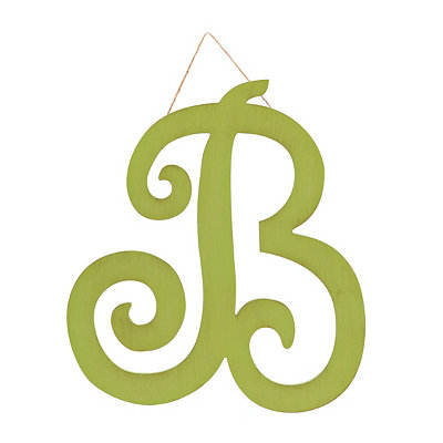 Vintage Green Monogram B Plaque