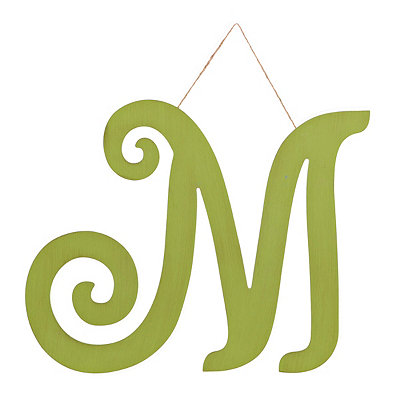 Vintage Green Monogram M Plaque