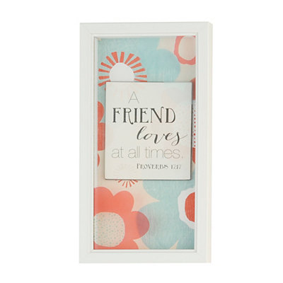 A Friend Loves at All Times Framed Art Print