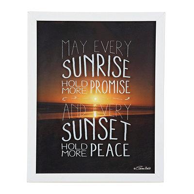 Sunrise Promise Framed Art Print