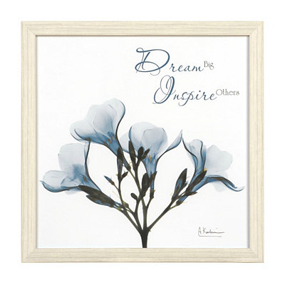 Dream Big X-Ray Floral Framed Art Print