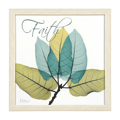 Faith X-Ray Floral Framed Art Print