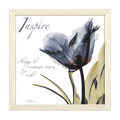 Inspire X-Ray Floral Framed Art Print