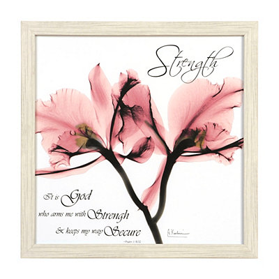 Strength X-Ray Floral Framed Art Print