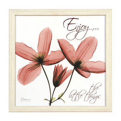 Enjoy X-Ray Floral Framed Art Print
