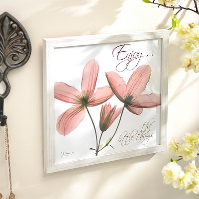 Enjoy X-Ray Floral Framed Art Print