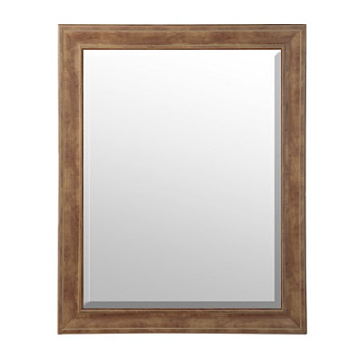 English Pine Framed Mirror, 37x47
